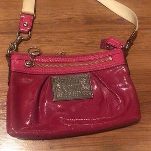 Coach Poppy Leather Swingpack Crossbody Bag Pink Purse
